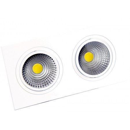 LED OC003B 2Х10W 5000K WH