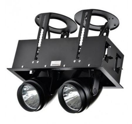 LED DK884-2 2Х30W BLACK 5700K