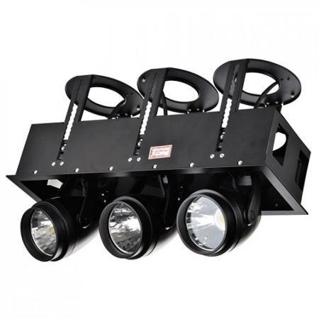 LED DK884-3 3Х30W BLACK 6000K
