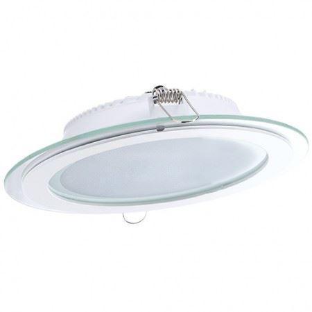 DL LED GLASS ROUND PANEL18W 6000K
