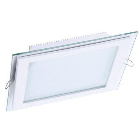 DL LED GLASS KVADRO PANEL18W 3000K