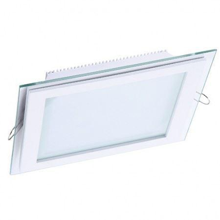 DL LED GLASS KVADRO PANEL18W 6000K