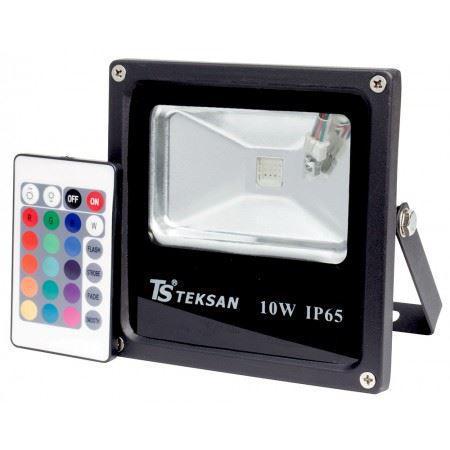 LED FD1001 10W RGB BLACK IP65
