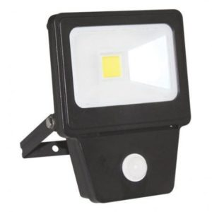 LED COB SENSOR 20W BLACK 6000K