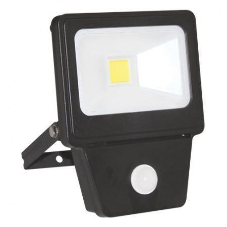 LED COB SENSOR 20W BLACK 6000K